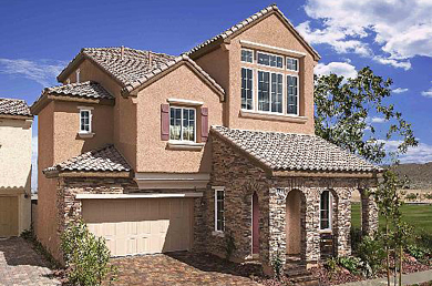 Exterior home painting in Las Vegas, Nevada. Spanish Trails painting company.