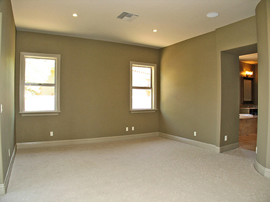 We are careful to only paint the walls and not spill paint on the carpet or flooring.